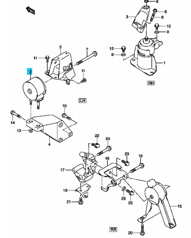 Suzuki Swift 2005-> motortartó motor tartó gumibak gumi
