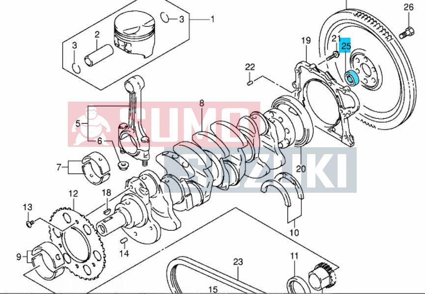 Suzuki Ignis benzines, Wagon R 1,3 VVT csapágy lendkerékbe