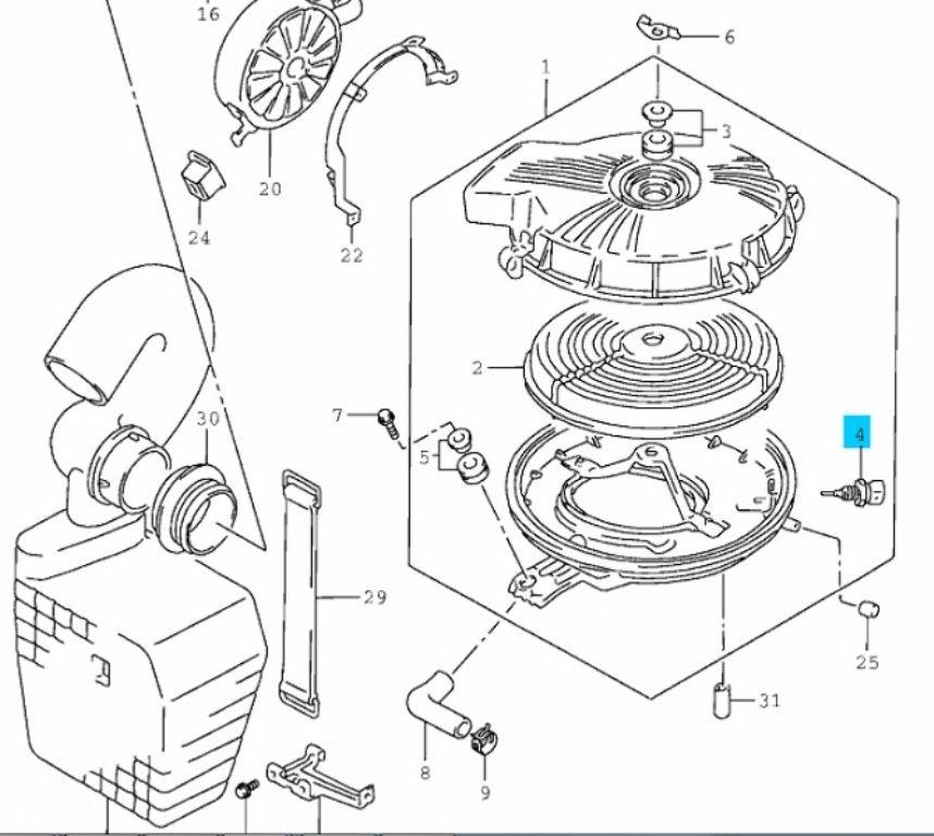 Suzuki Swift 1,0-1,3 (8v) levegő hőmérséklet érzékelő