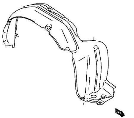 Suzuki Wagon R műanyag sárvédő dobbetét dob betét jobb