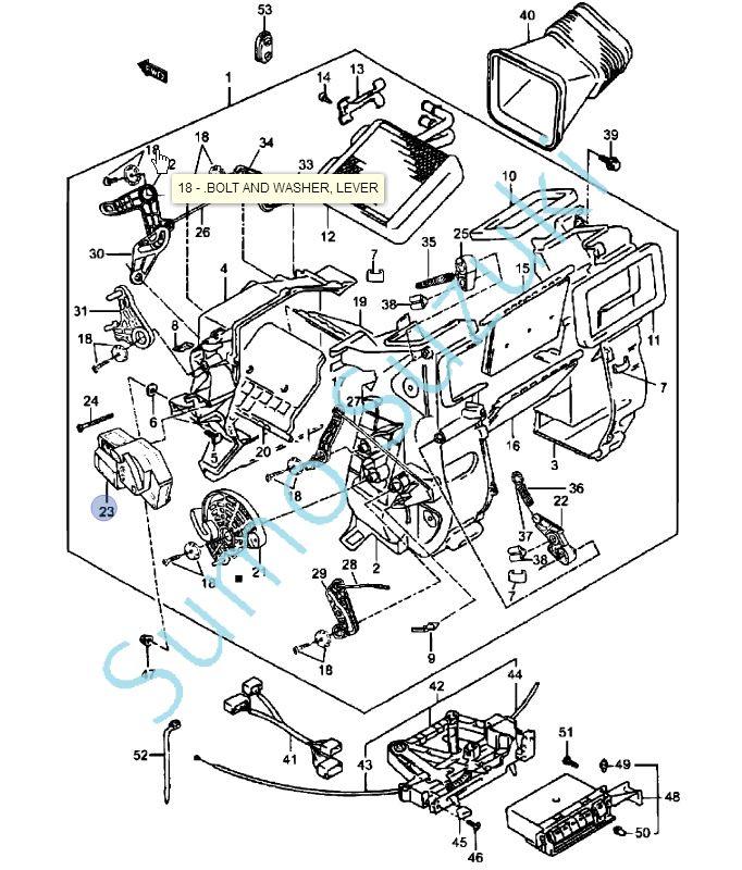 Suzuki Vitara SE416, SE419D, SE420HDi Fűtés levegő módozat