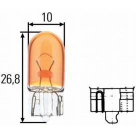 Suzuki izzó 5W sárga, üveg foglalattal
