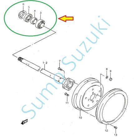 Suzuki Samurai Kerékcsapágy készlet hátsó SJ410 SJ413  09269-35009