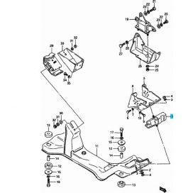 Maruti motortartó motor tartó gumibak gumi bak első 11610-84000