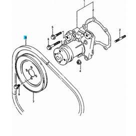 Maruti vízpumpa + generátor ékszíj 17521-78010-U
