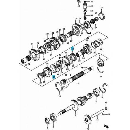 Maruti szinkrongyűrű szinkron gyűrű III-IV. seb. 24431