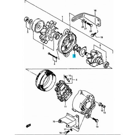 Maruti generátor csapágy - hátsó 31582-80030