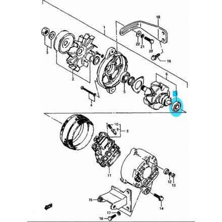 Maruti generátor csapágy - első 31612-80030