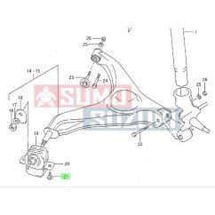 Suzuki Swift hátsó lengőkar bilincs csavar GYÁRI 01570-1025A-E