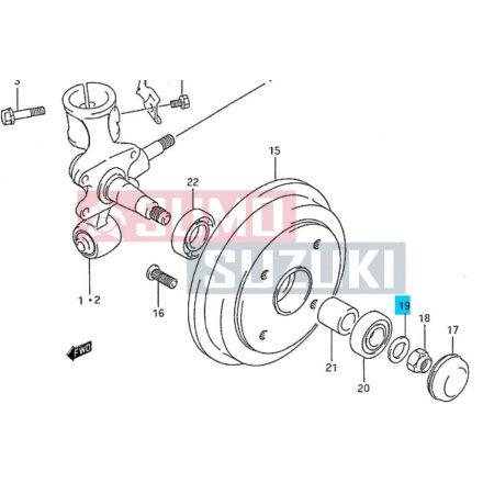 Suzuki Swift hátsó tengely csonk anya alátét (3/5 ajtós modellek) 08322-01163