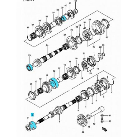 Suzuki váltócsapágy szett 1,3 benzines (4 db csapágy) 09262-valtoszett