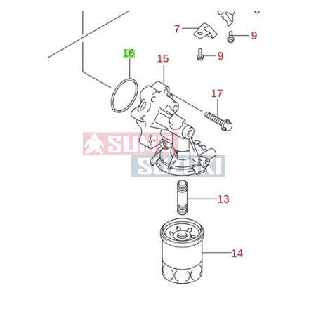 Suzuki olajszűrőház O-gyűrű 09280-62003