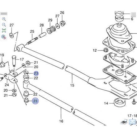 Suzuki Swift váltó rudazat persely 09306-12009