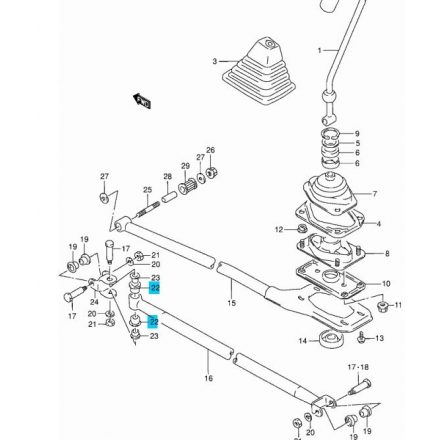 Suzuki Swift váltó rudazat persely 09320-14018
