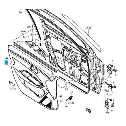 Suzuki ajtó kárpit patent fekete 09409-06314-5PK-SE