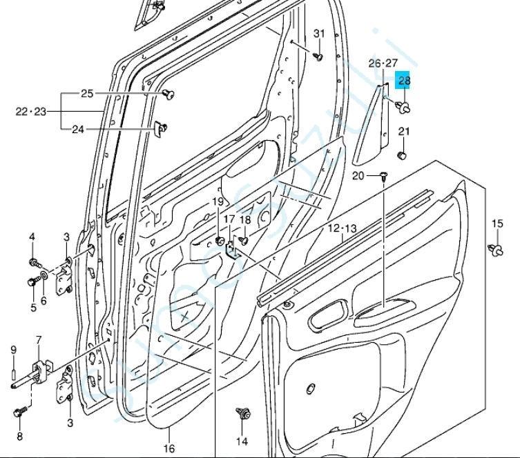 Suzuki ajtó kárpit patent Ignis és Swift 2010-> 09409