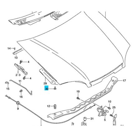 Suzuki Swift 1990-2003 motorháztető szigetelés patent - gyári eredeti Suzuki 09409-06321