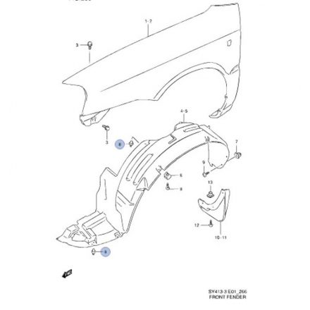 Suzuki patent (fekete) általános
