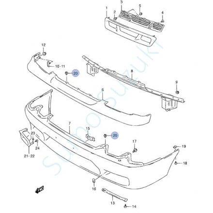 Suzuki patent, első-hátsó lökhárító Swift 1992-2004-ig  GYÁRI S-09409-07325-5PK-E