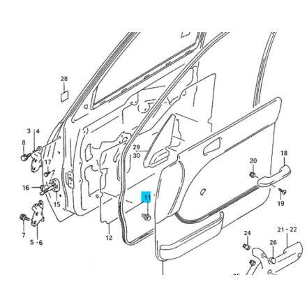 Suzuki ajtó kárpit patent, fehér 09409-08320