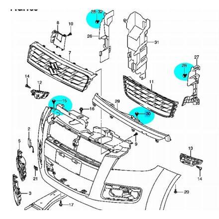 Suzuki lökhárító patent GYÁRI 09409-08327