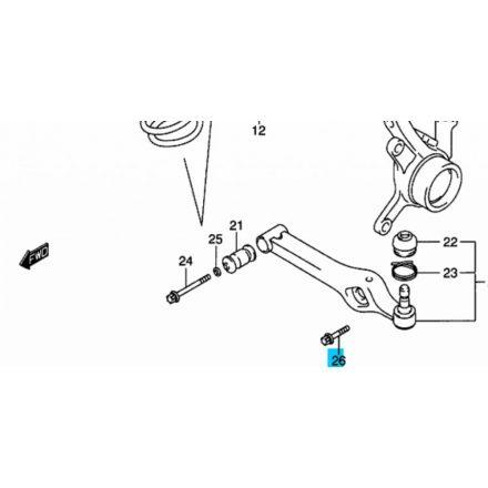 Suzuki Ignis Wagon R első lengőkar csavar (gömbfejnél