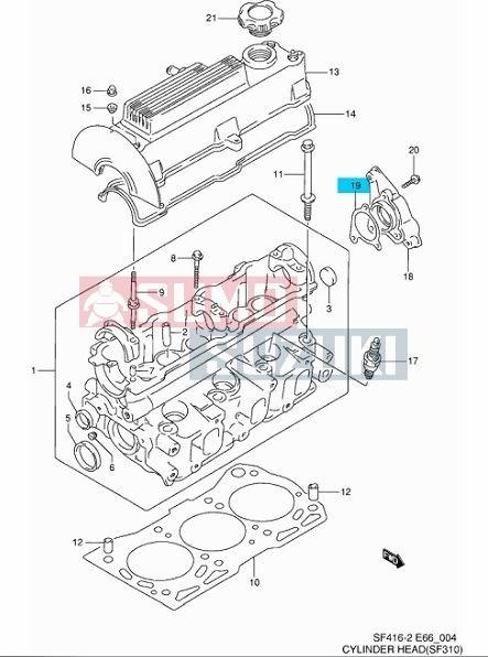 Suzuki Swift Wagon R 1,0 gyújtás elosztó ház tömítés