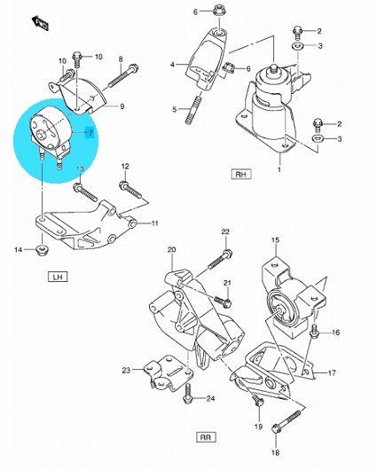 Suzuki Ignis benzines, Wagon R (VVT motoros) motortartó