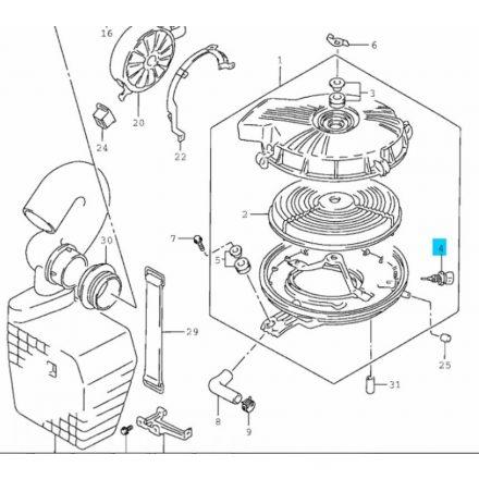 Suzuki Swift 1,0-1,3 (8v) levegő hőmérséklet érzékelő (alvázszám: ...250 000-től) 13650-60G00