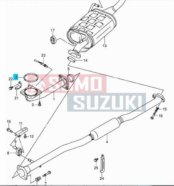 Suzuki Ignis Wagon R (VVT) SX4 benzines kipufogó tömítés
