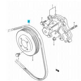 Suzuki Swift 1990-1996 generátor + vízpumpa szíj, 3 bordás (Gates) 17521-60B20