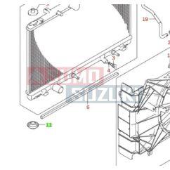 Suzuki Vitara hűtőtartó gumipogácsa  gyári 17878-54LA0-E