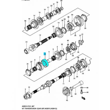 Suzuki sebességváltó csapágy MGP S-24126-83E00-SSE