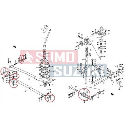 Suzuki Swift 1990-2003 sebességváltó rudazat javító készlet 24700-80E00