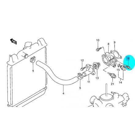 Suzuki Swift 1990-98 hőpatron hőgomba vízhőfok érzékelő, alvázszám: ...->403004-ig 34850-82012