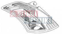 Suzuki Swift 2010-> Bal hátsó lámpa 35670M74L00 Kinti gyári termék