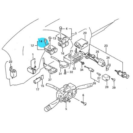 Suzuki Swift izzó hátsó szélvédő fütés kapcsolóba (zöld) 37399-60E10