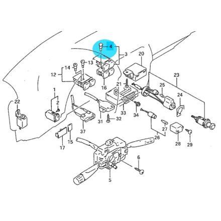 Suzuki Swift izzó hátsó ablaktörlő/mosó kapcsolóba (zöld) - 37399-60E10