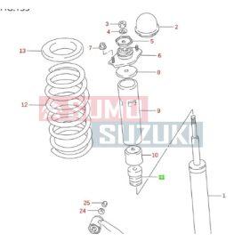 Suzuki Swift 90-03 hátsó lengéscsillapító ütközőgumi (gyári) S-42251-70C00-E