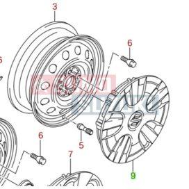 """Suzuki Splash dísztárcsa 15"""" méretben 43250-51K50-ZPL-E"""