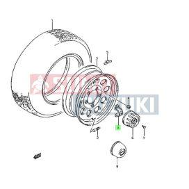 Suzuki Samurai 1,0 1,3 felni porvédő kupak sapka tartólemez S-43271-80000