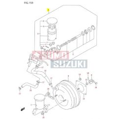 Suzuki Swift főfékhenger '97-'03 (Bosch rendszer, ABS-es autókhoz) gyári eredeti 51100-80EA1
