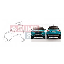 Suzuki Vitara 2015-> Bal Sárvédő GLX NEM INDEXES / Nem Lyukas