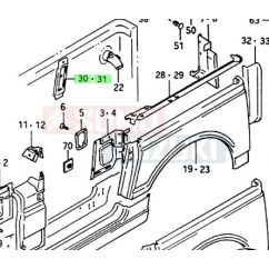Suzuki Samurai merevítő hátsó sárvédőnél jobb 64235-80001