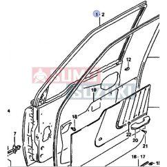 Suzuki Vitara 88-99 jobb ajtó 68001-66A11