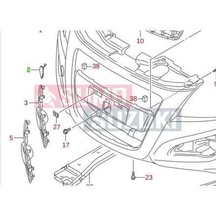 Suzuki Splash 2012- Vonószem takaró 71712-85L00