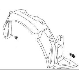 Suzuki Swift 2005-2010 műanyag sárvédő dobbetét jobb Gyári 72321-63J20