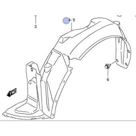 Suzuki Swift 2005-2010 műanyag sárvédő dobbetét bal Gyári 72322-63J20