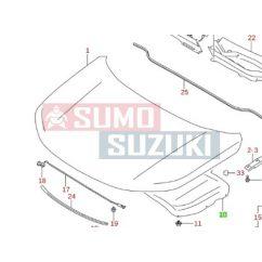 Suzuki Vitara 2015-> Motorháztető szigetelés Gyári Suzuki 72440-54P00-E