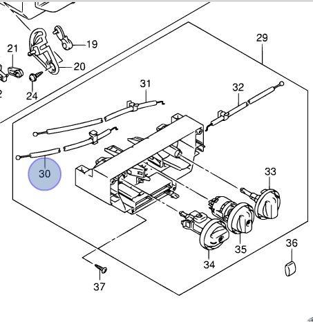 Suzuki Wagon R fűtésszabályzó fűtés szabályzó bowden huzal